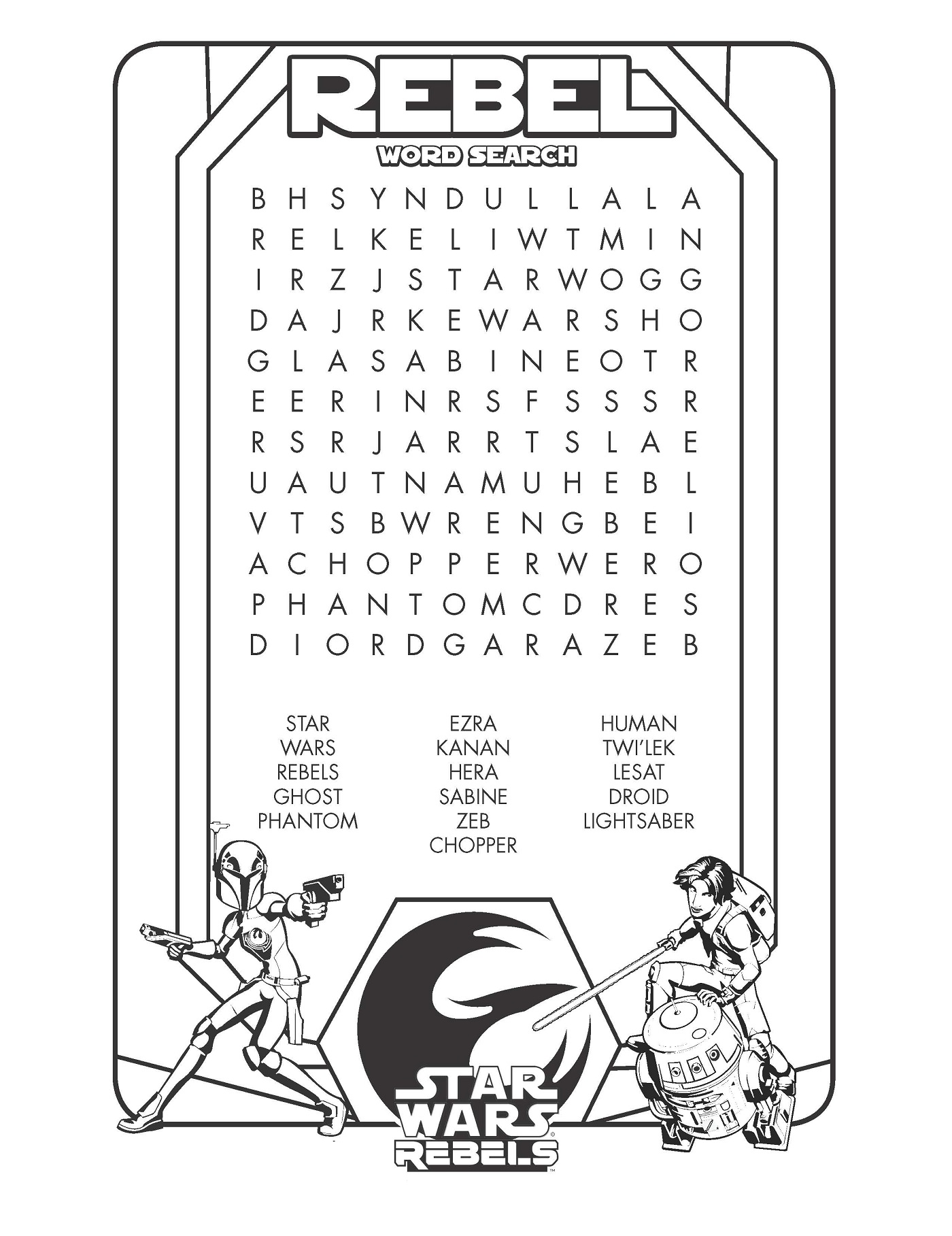 star wars word search fun