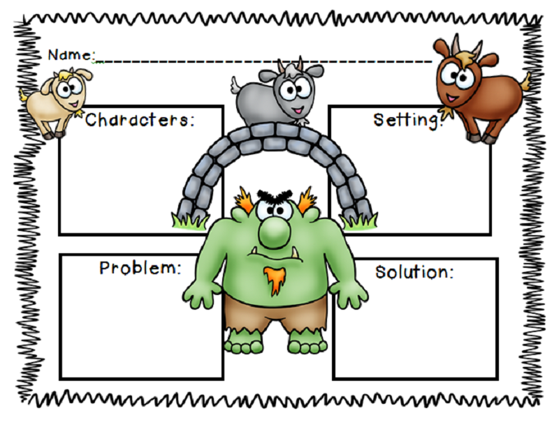 three billy goats gruff worksheets activity