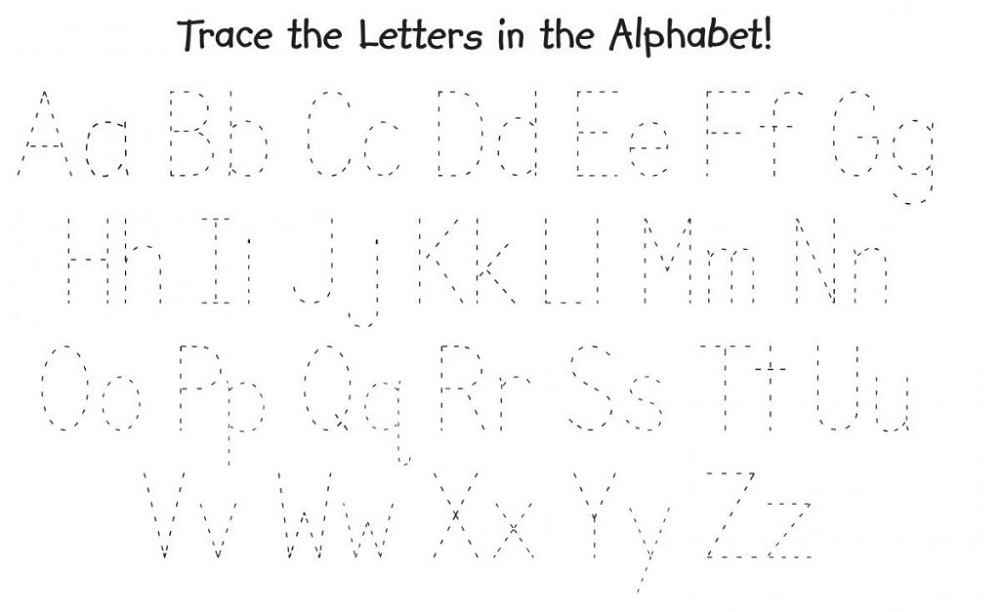 trace the letters sheet