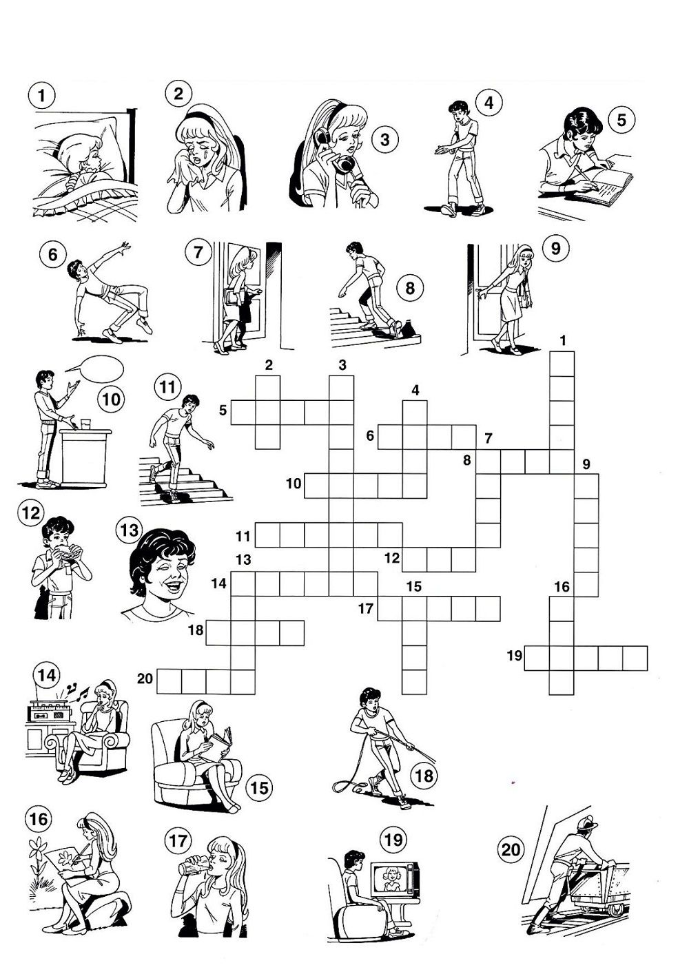 very easy crossword puzzles activity