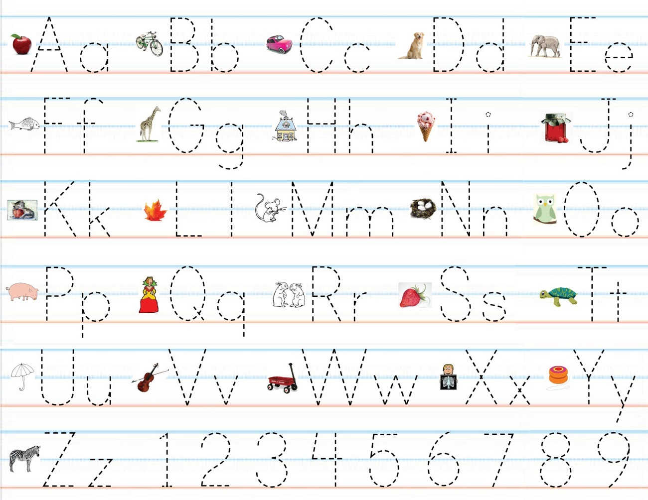 alphabet for preschool practice