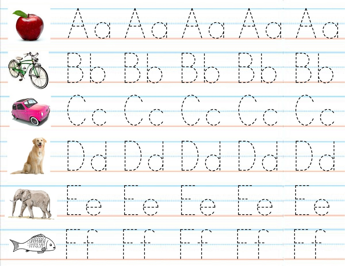 alphabet for preschool tracing