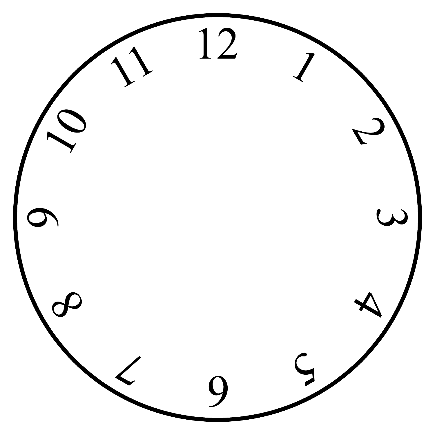 blank clock faces free