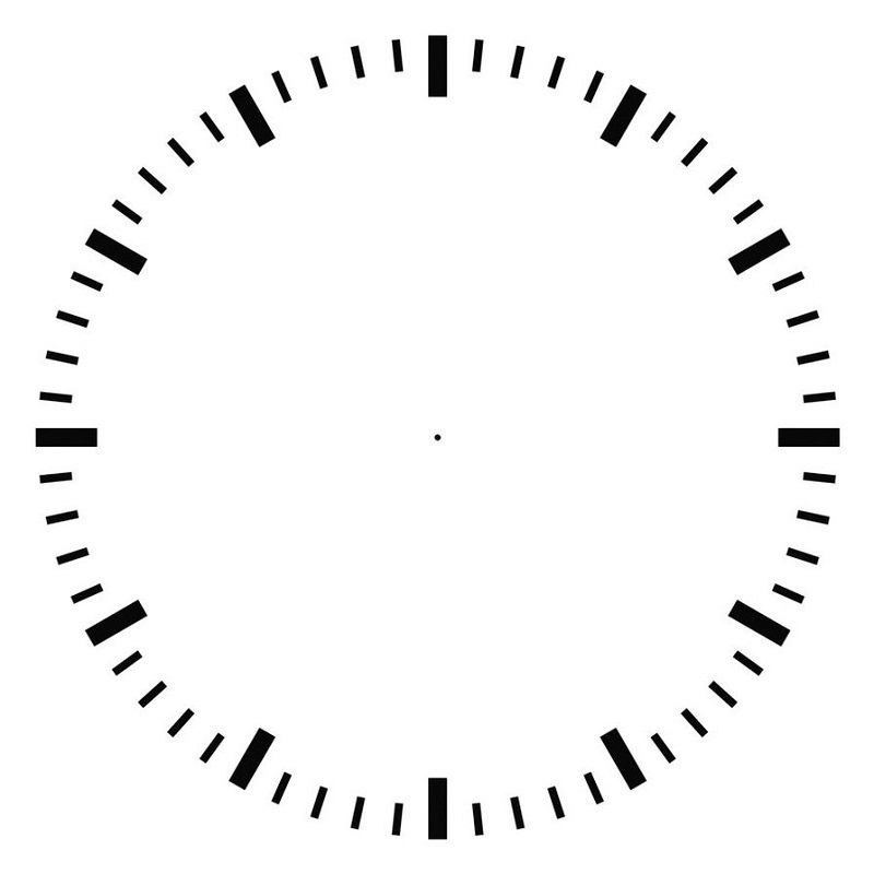 blank clock faces template