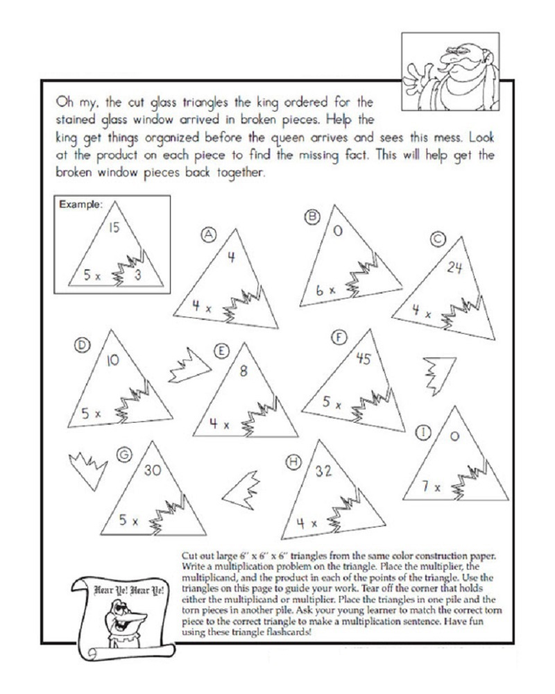 fact triangle worksheets printable