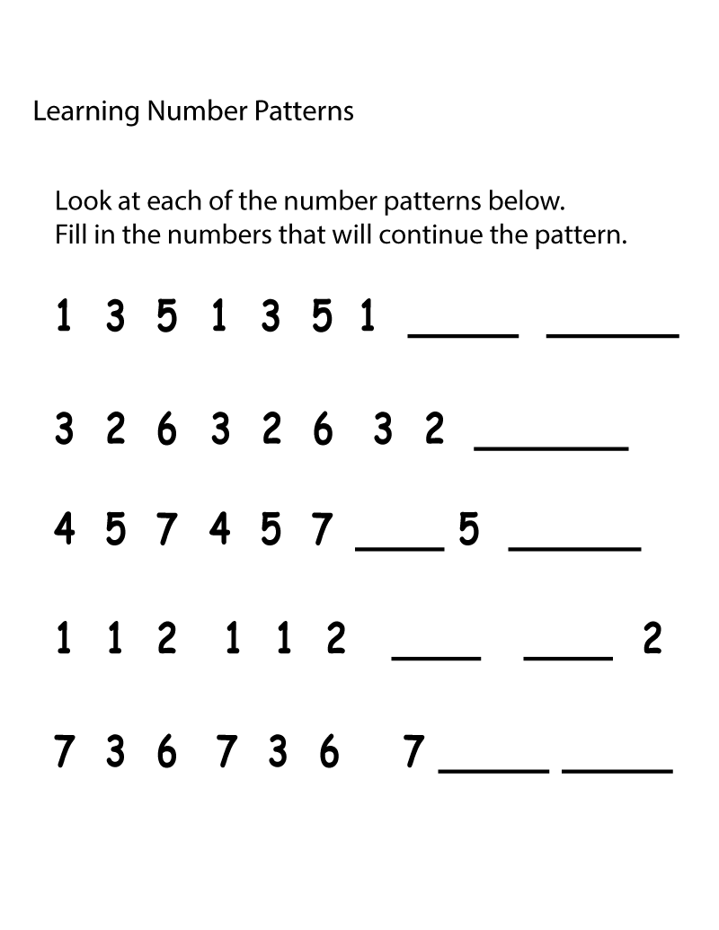 math numbers worksheets practice