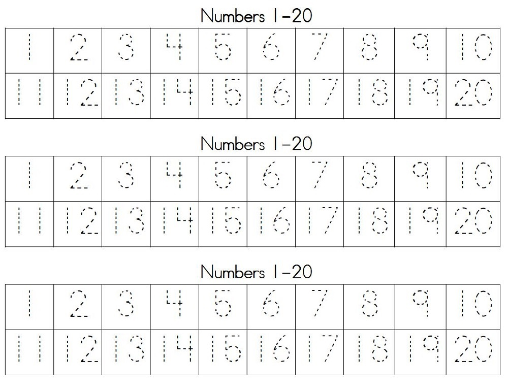 number tracking worksheet 1 to 20 activity