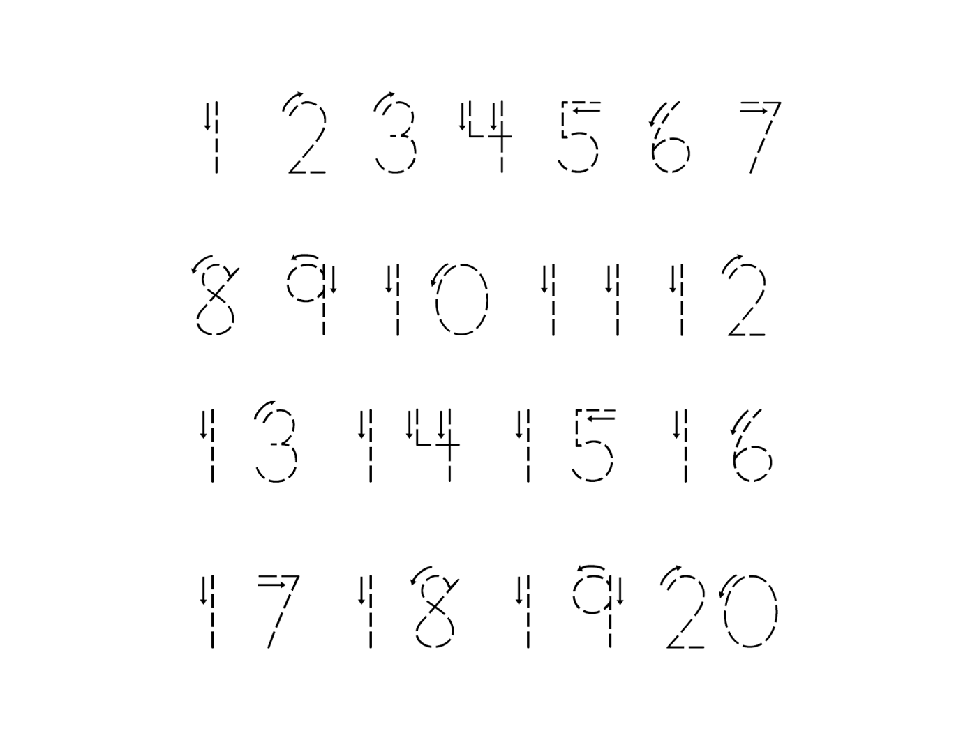 number tracking worksheet 1 to 20 free