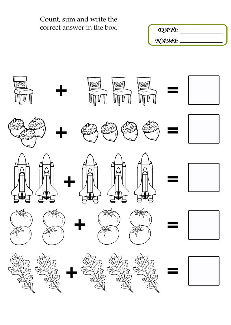 pictures of math worksheets page