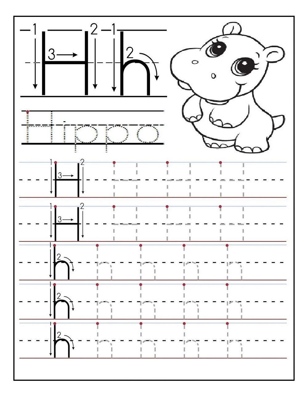 tracing worksheets 3 year old free