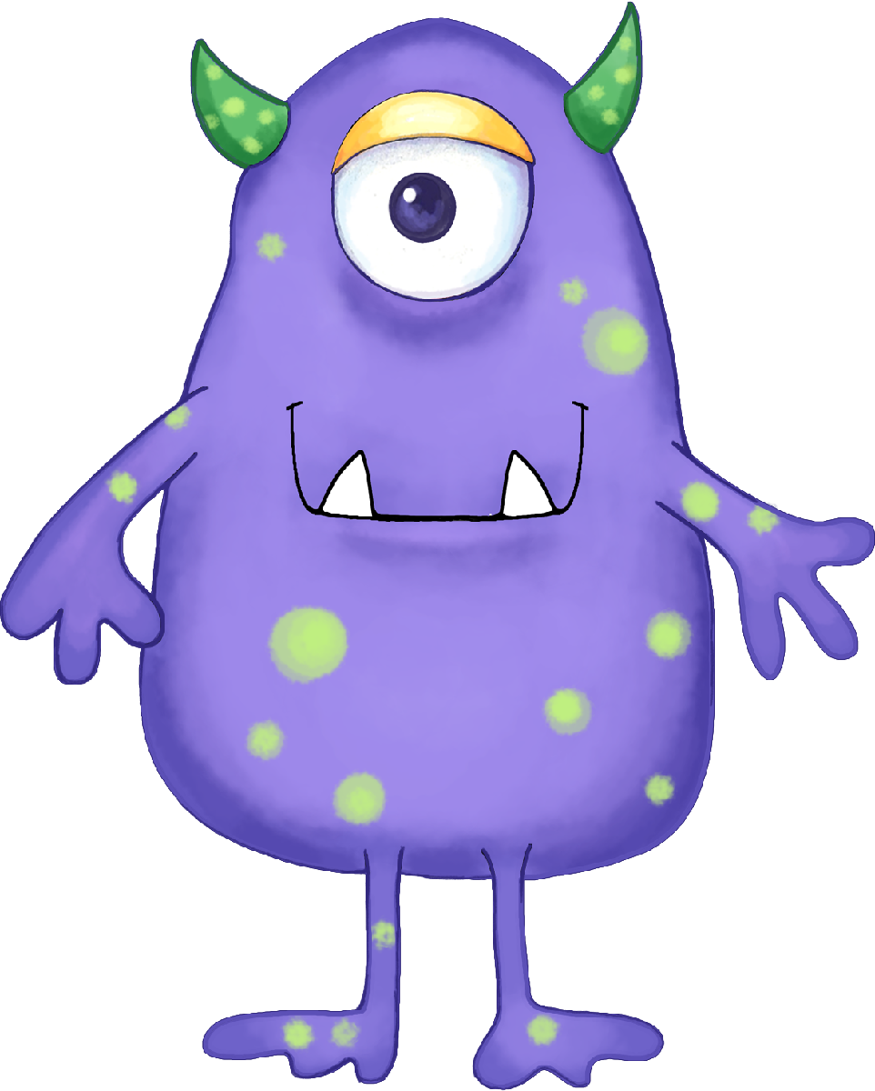 alien pictures for kids purple
