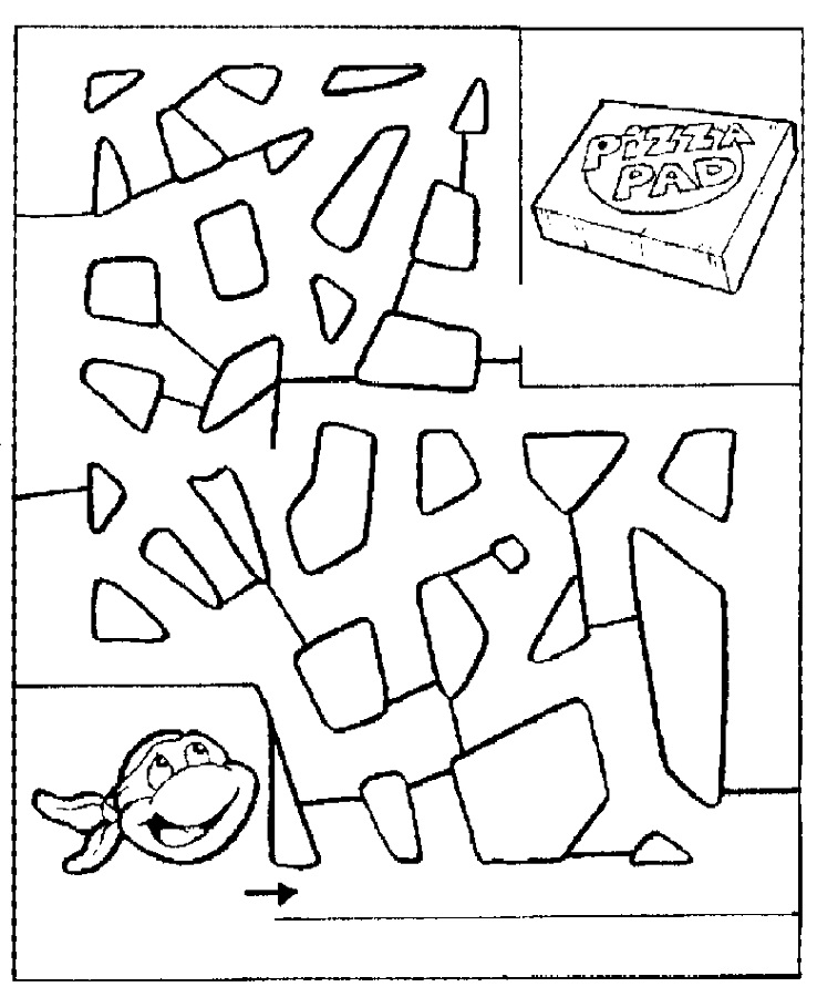 pizza maze for kids to print