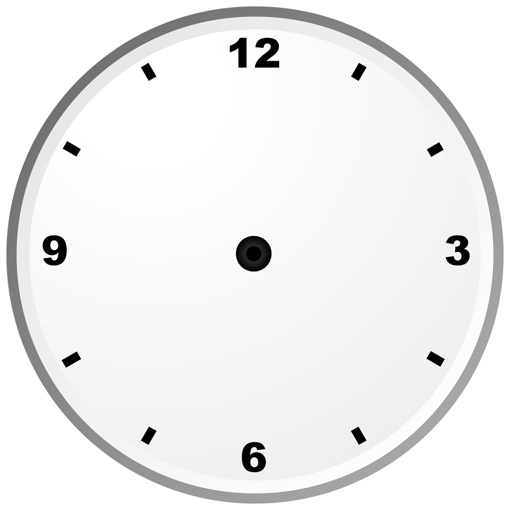 blank clock template face