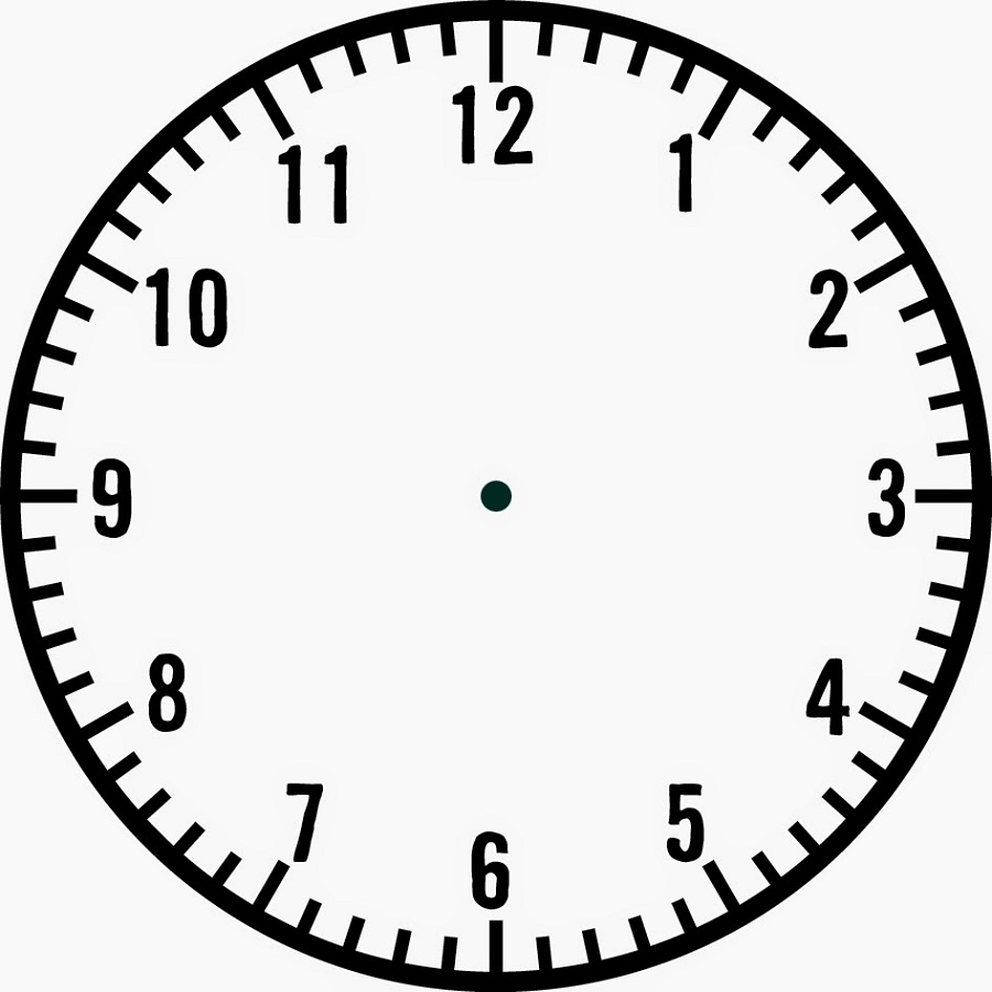 blank clock template page
