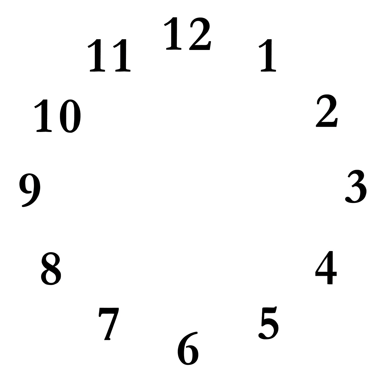 blank clock template simple