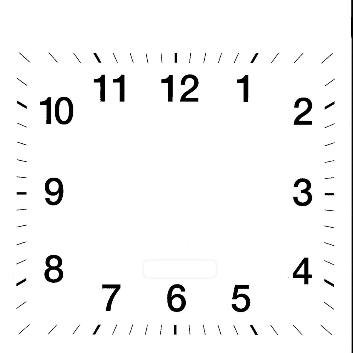 blank clock template square