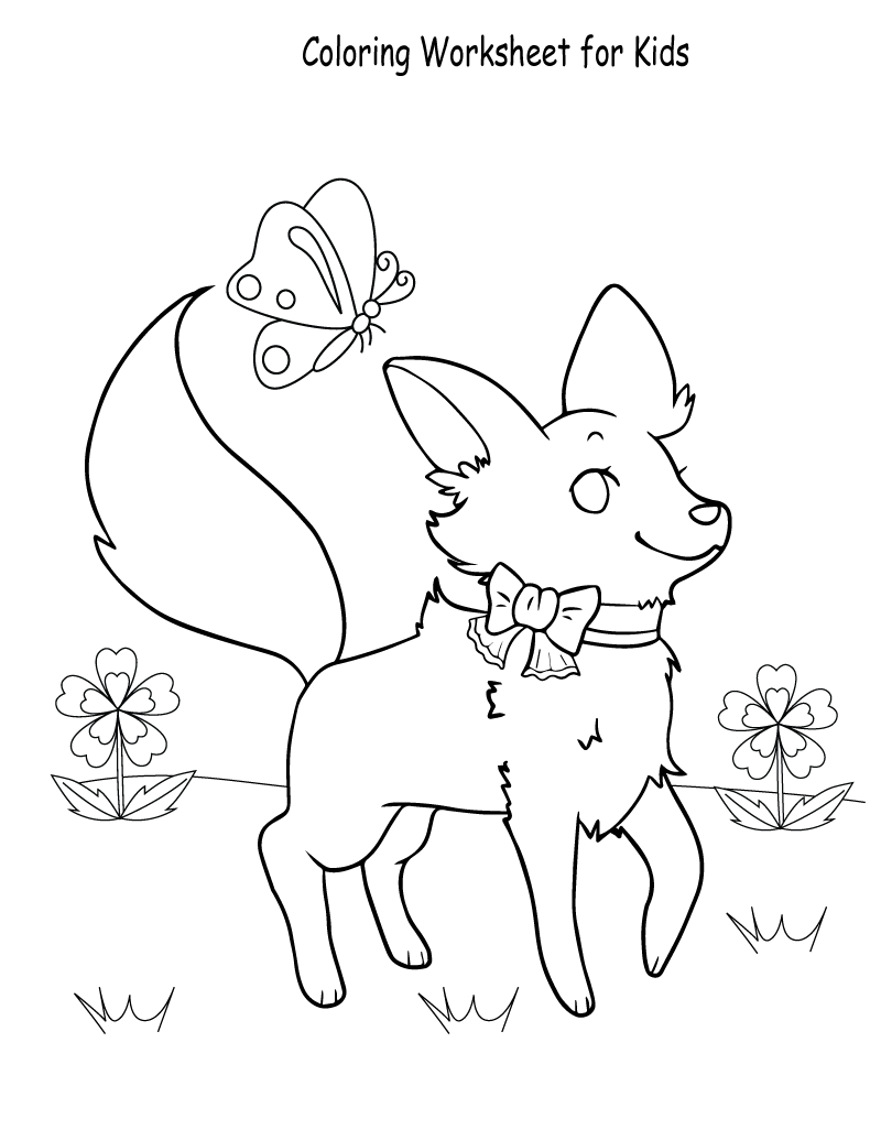 free activity sheets for kids coloring