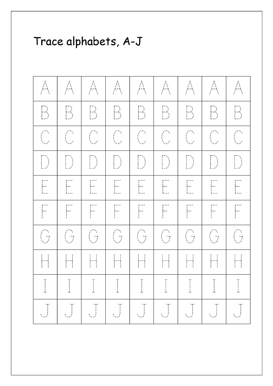 free traceable letters practice