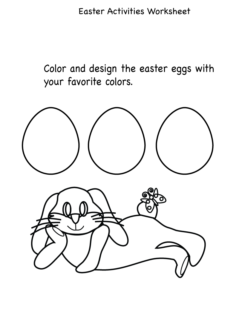 kids activity sheet easy