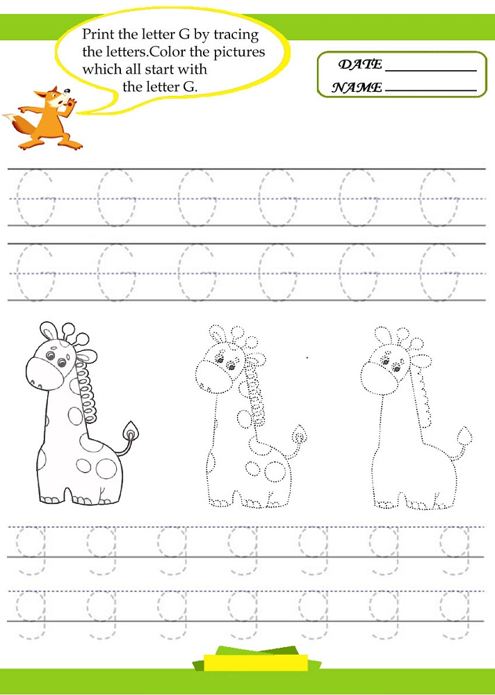 letter tracer pages giraffe