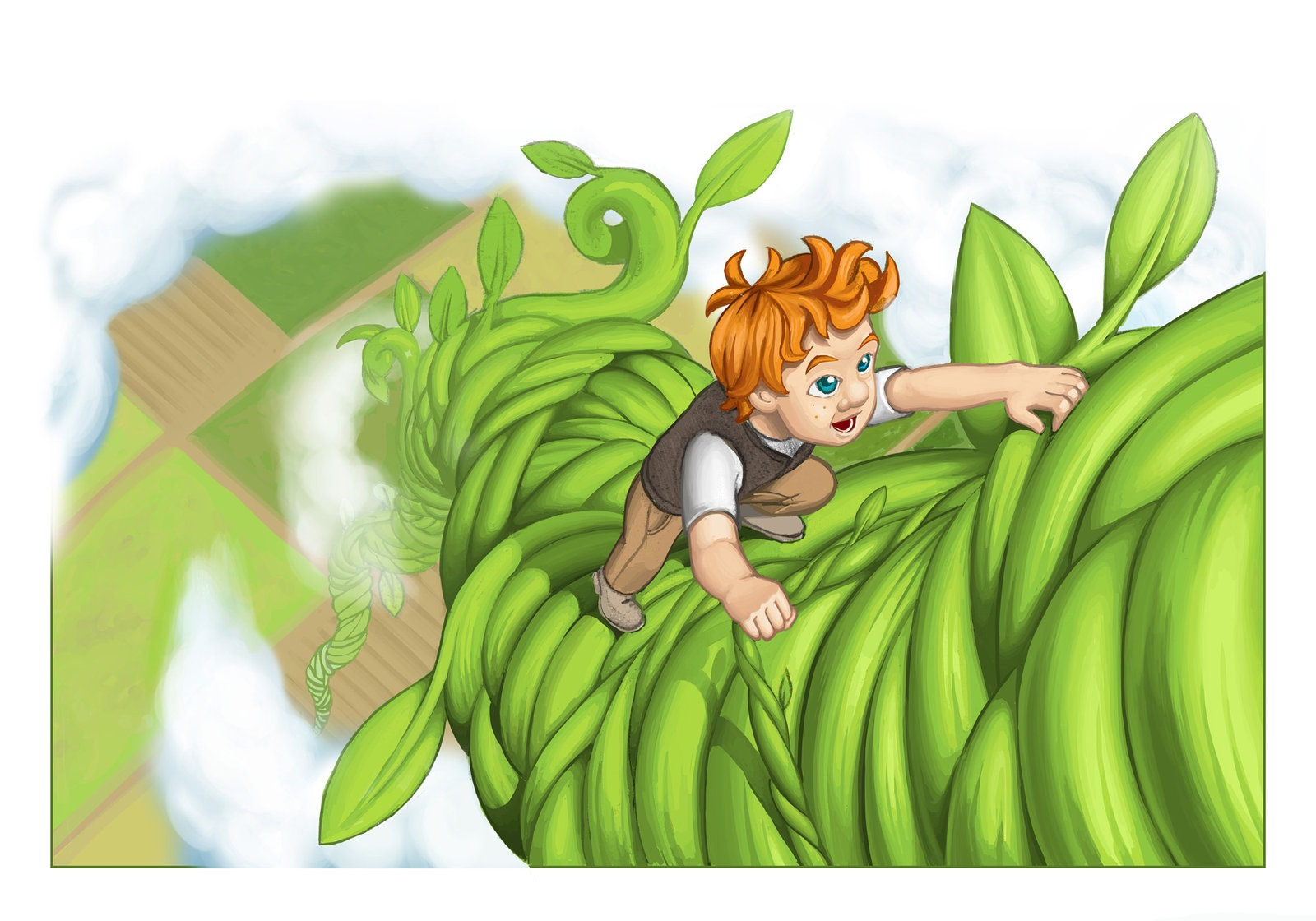 jack and the beanstalk images cartoon