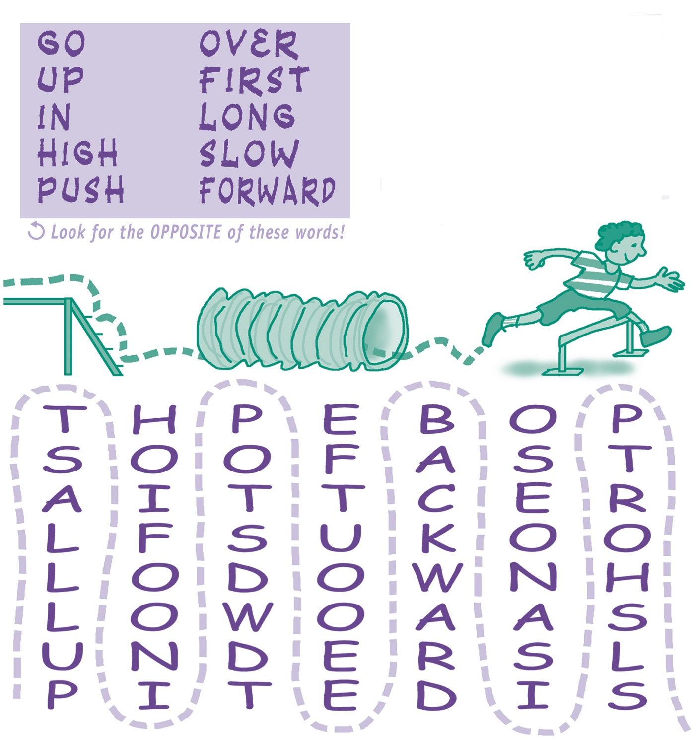 easy word search for kids practice