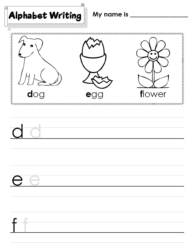 writing a b c worksheet for kids
