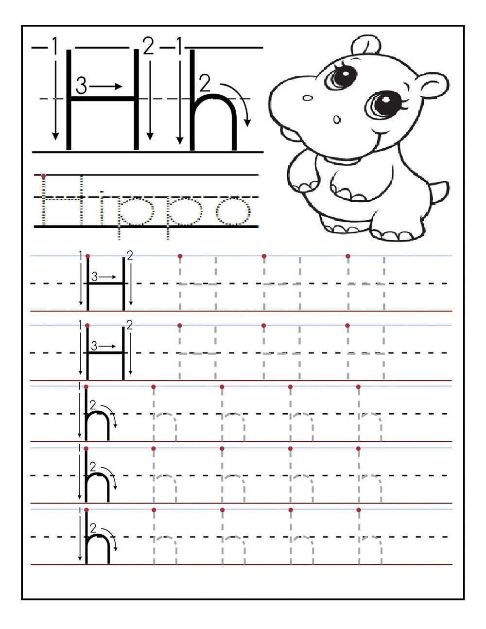 traceable letters free for kids