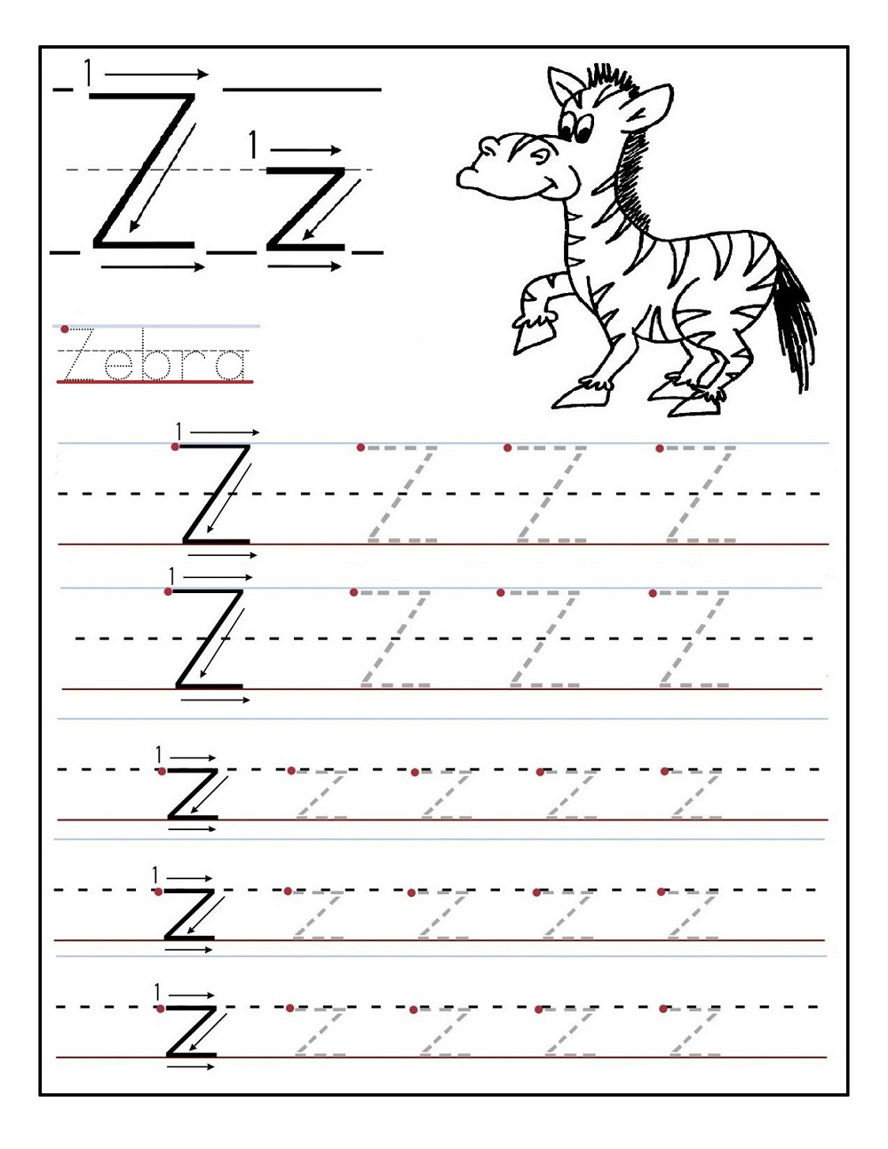 traceable letters free page