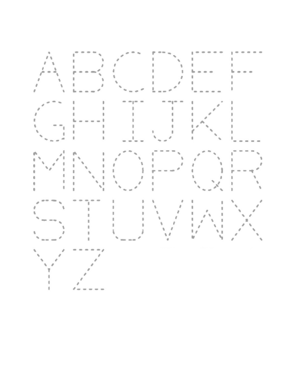 traceable letters free printable