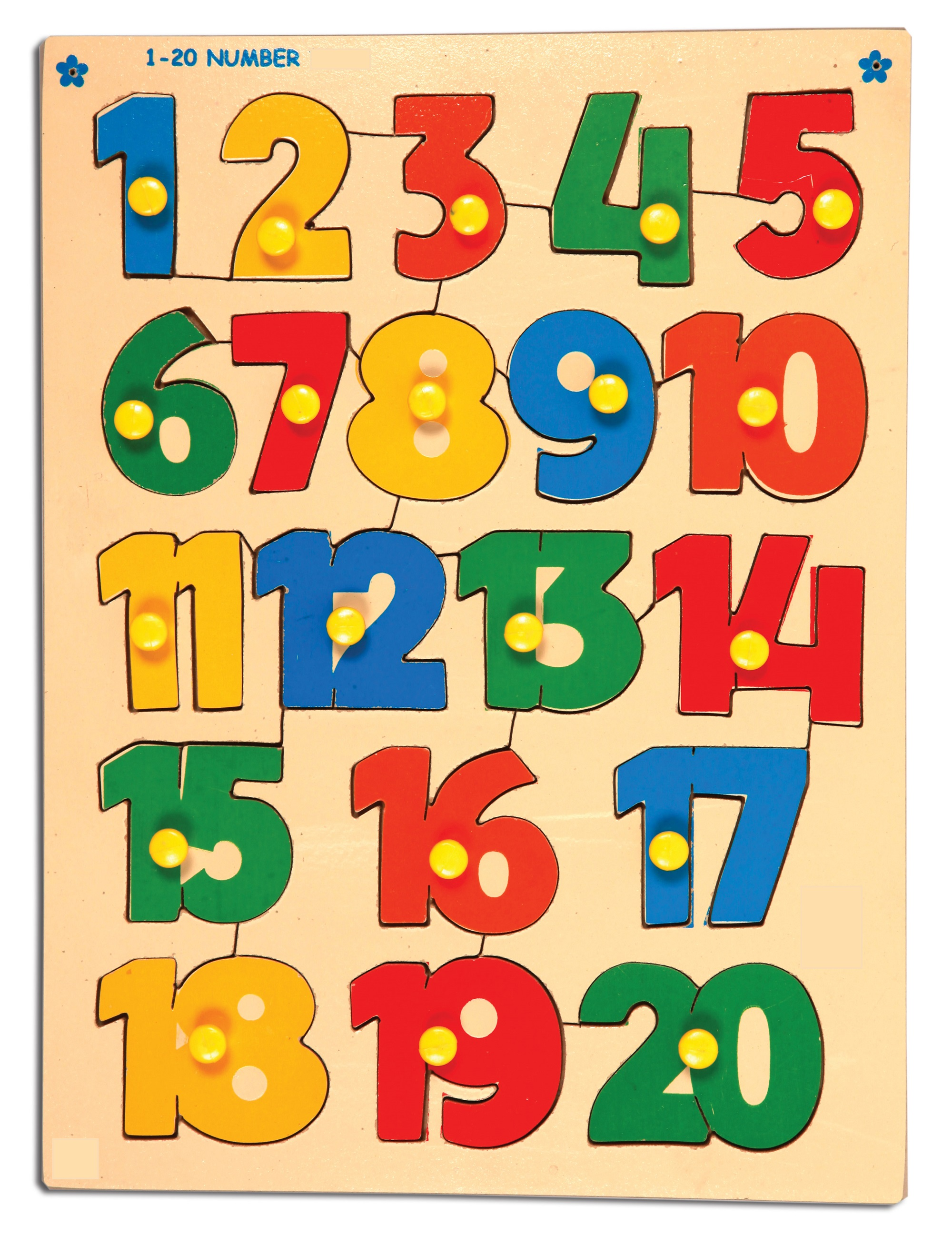 1-20 number chart for kids