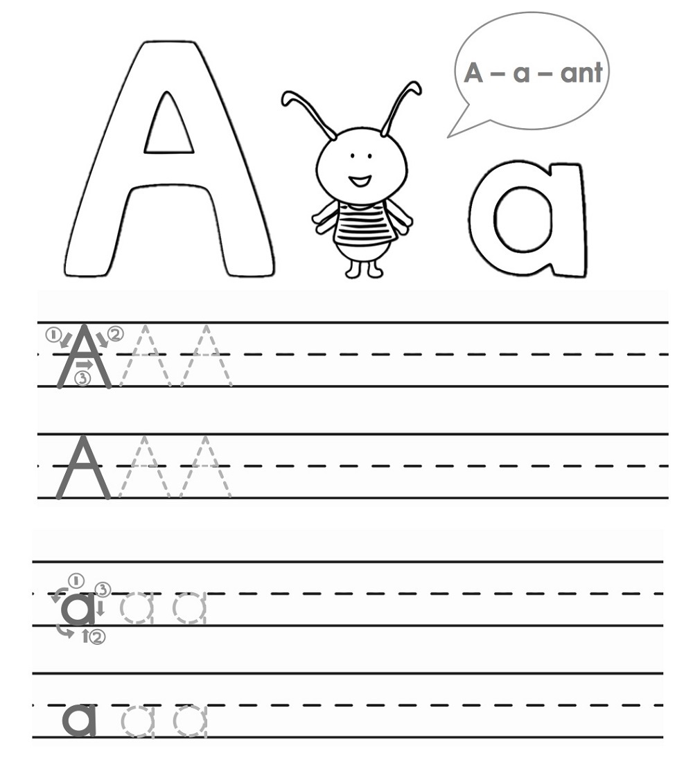 abc traceable worksheets for kids