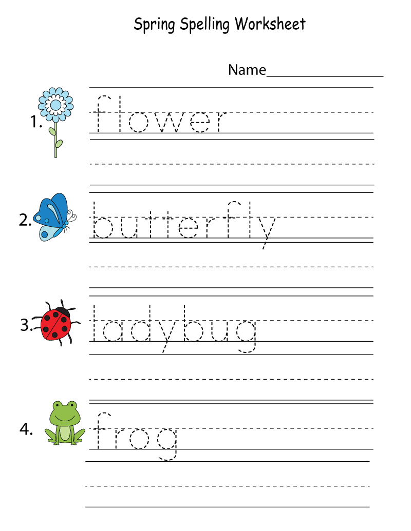 activity sheets for kids trace