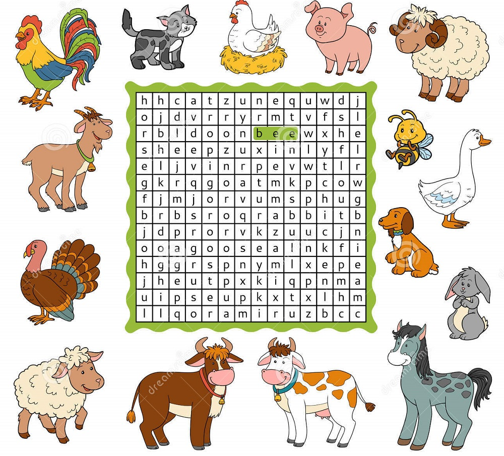 animal farm word search fun