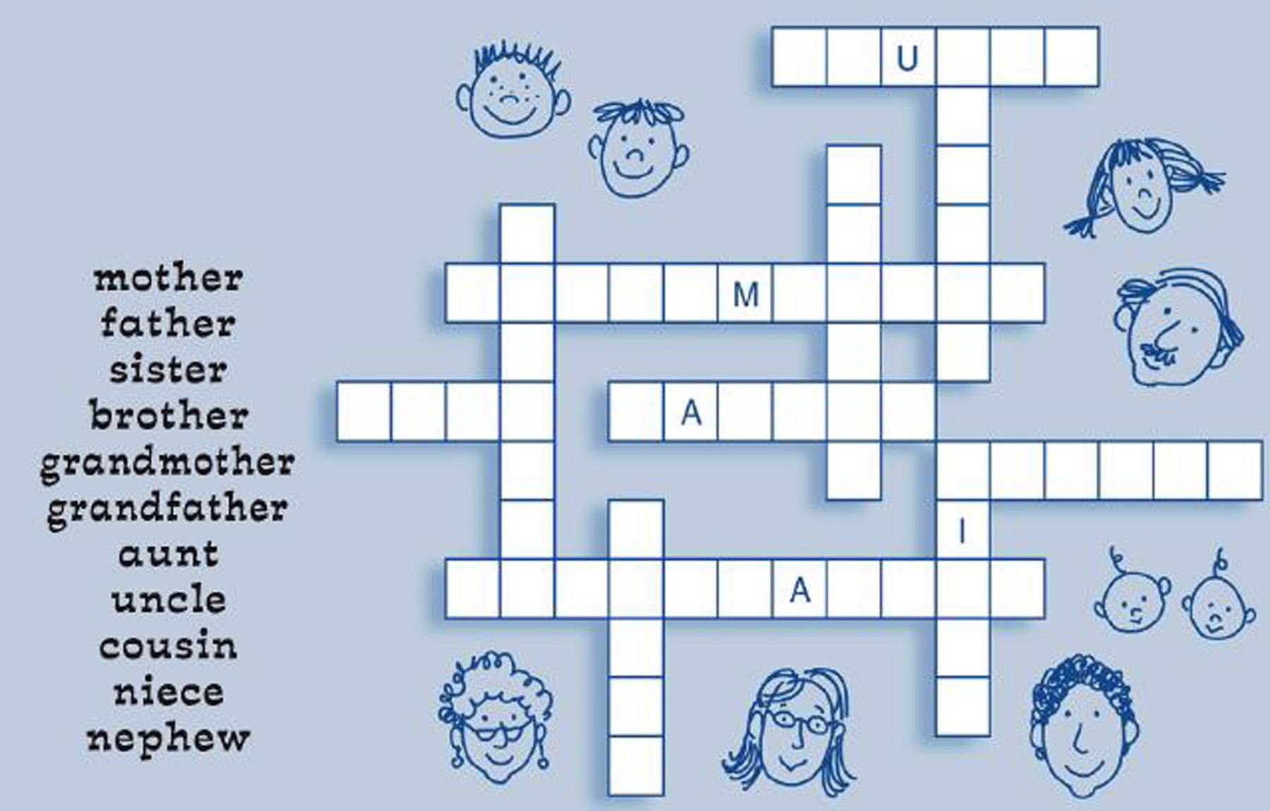 crossword puzzles for children practice