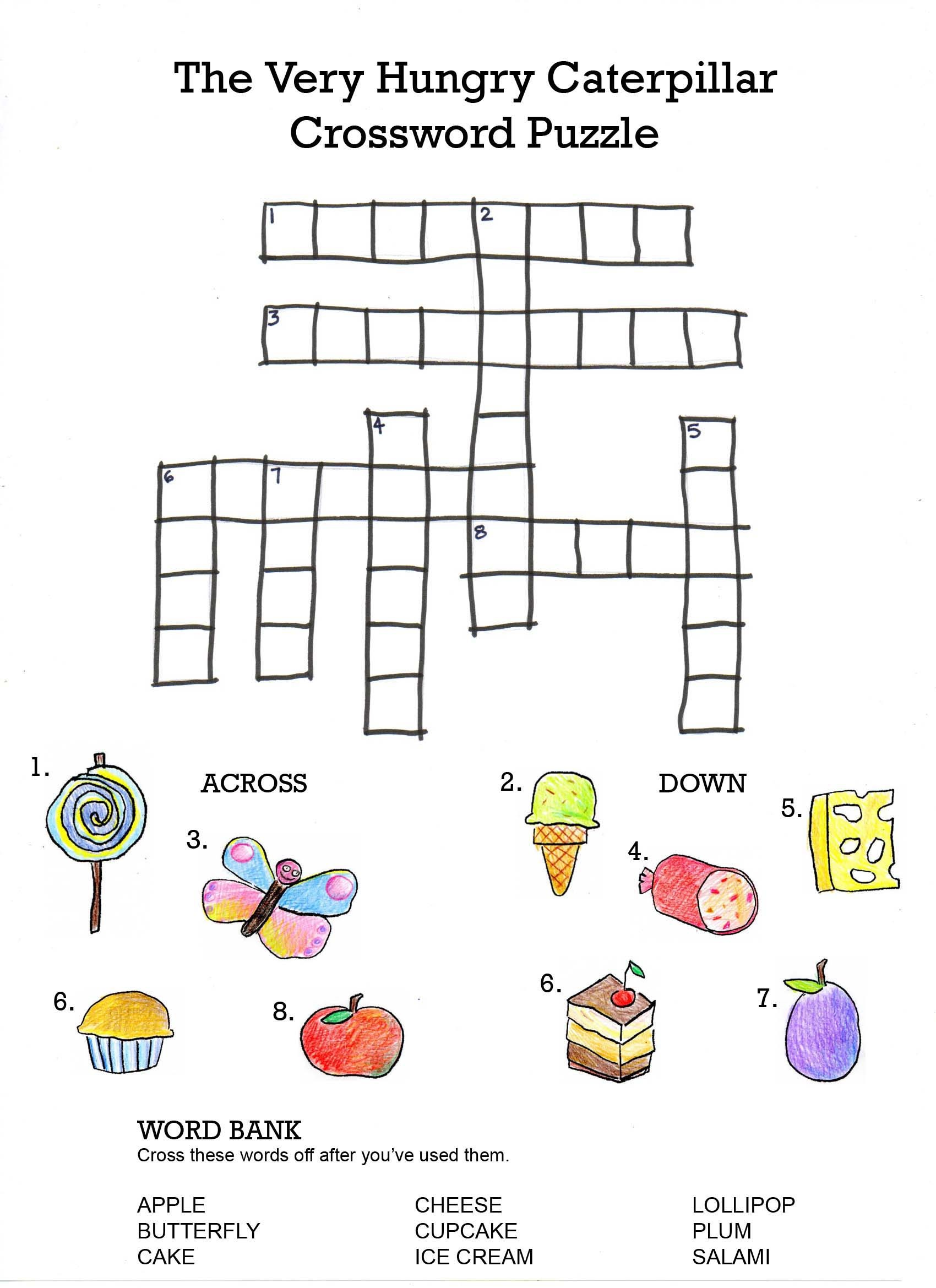 crossword puzzles for children printable