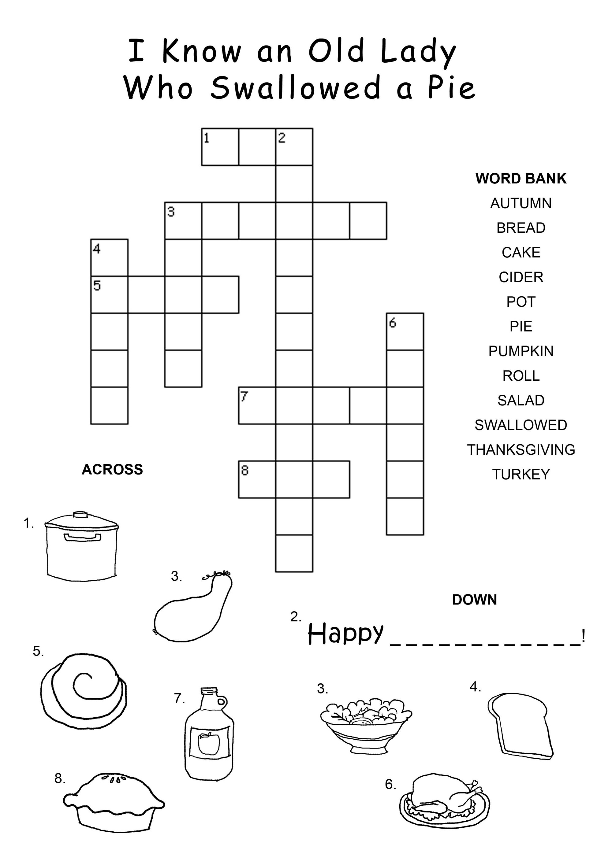 crossword puzzles for kids fun