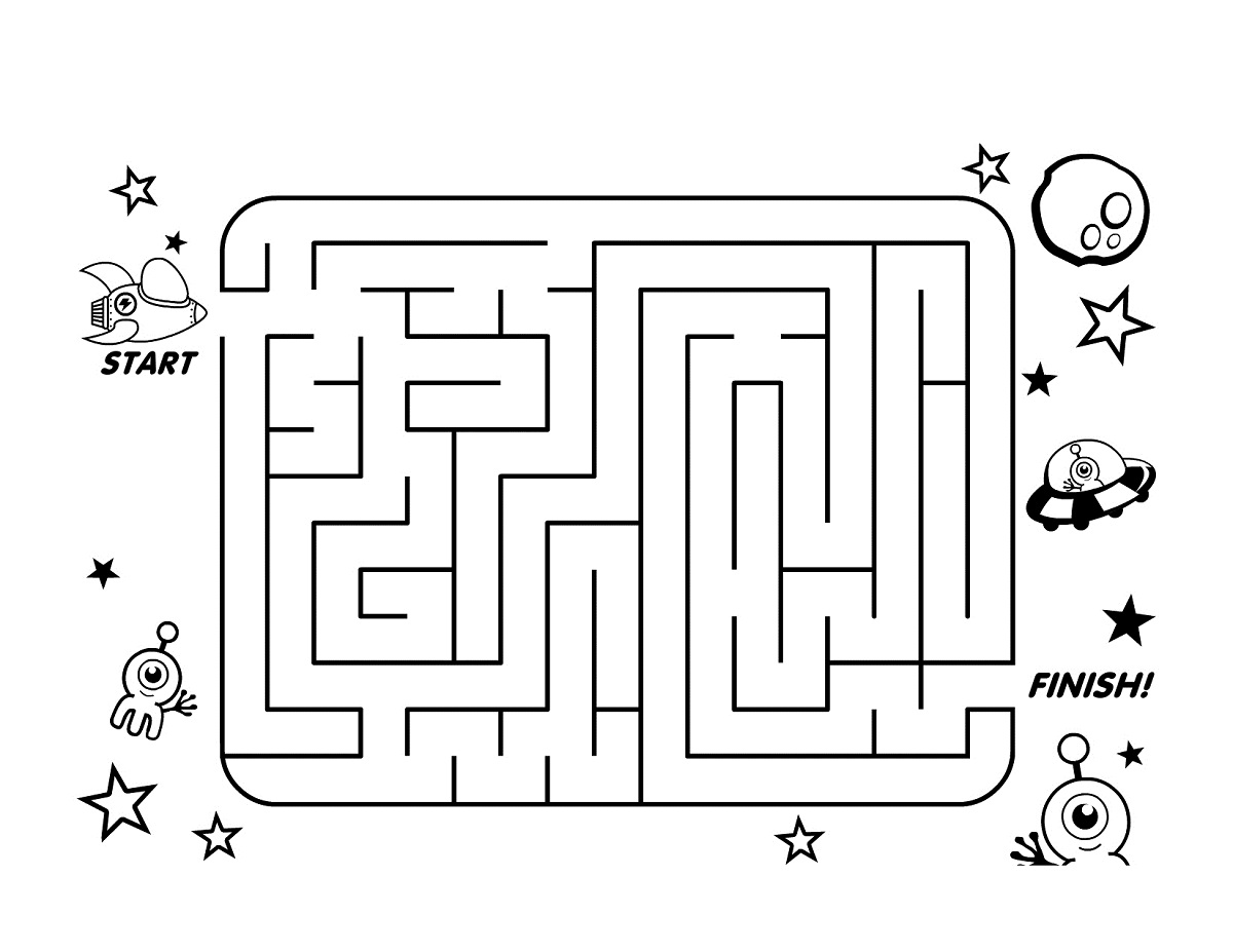 free kids mazes activity