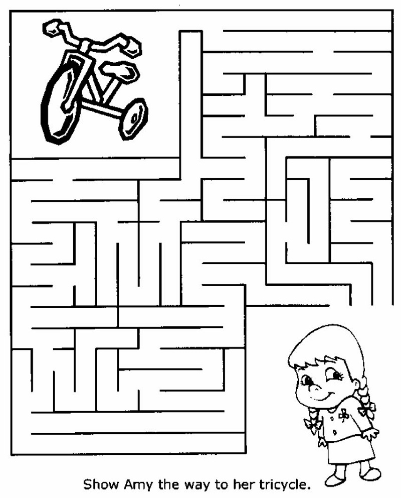 free kids mazes printable