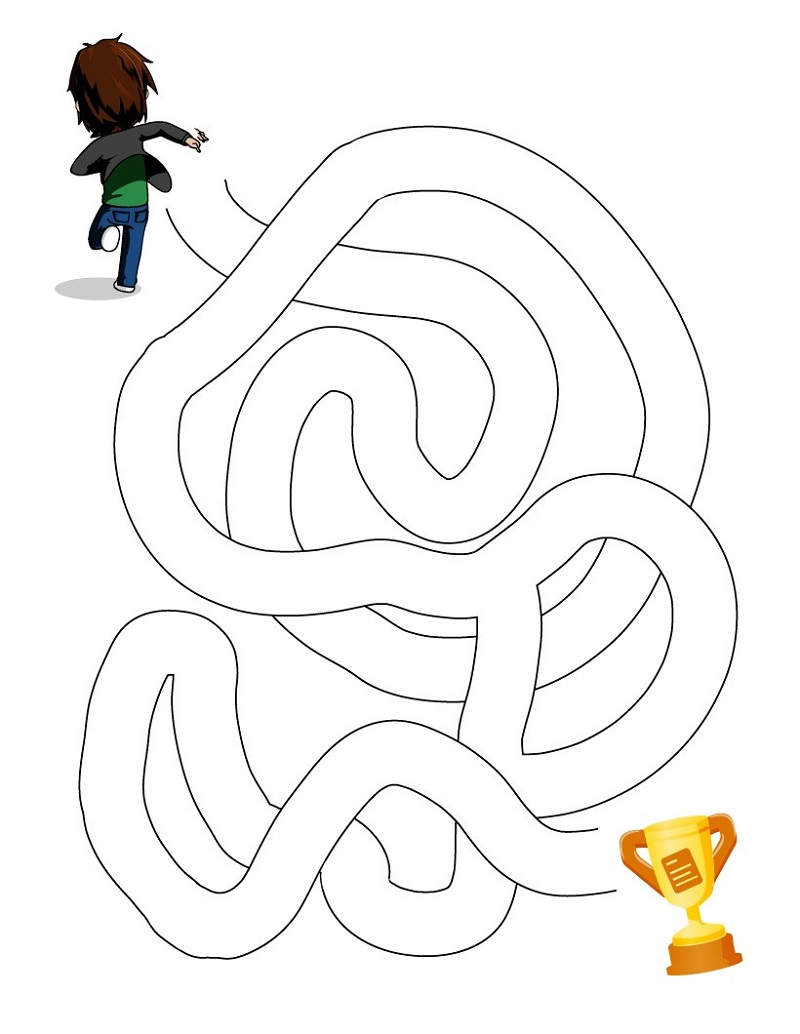 free kids mazes simple