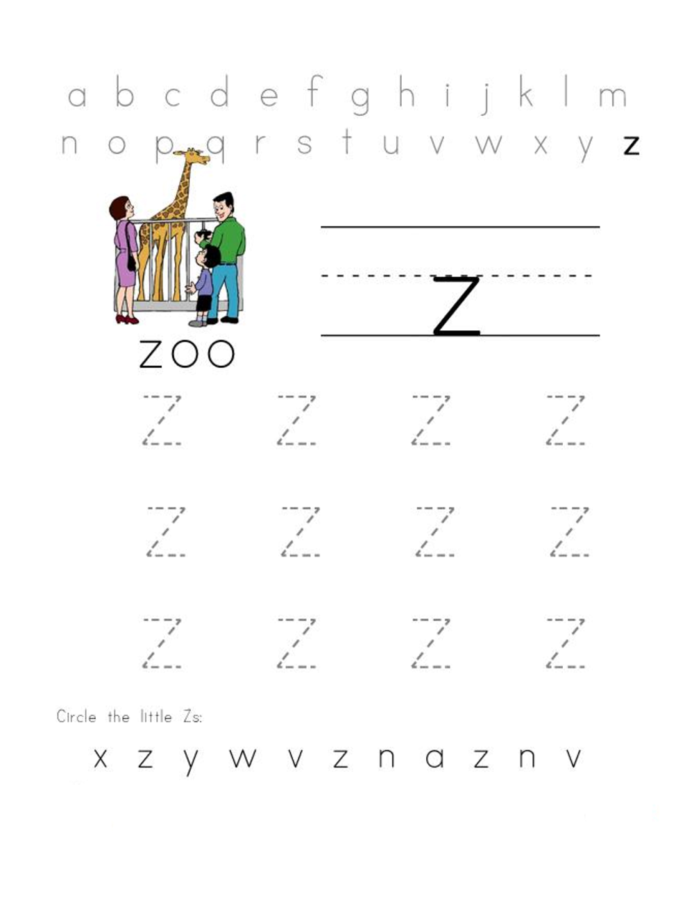 free letter worksheets activity
