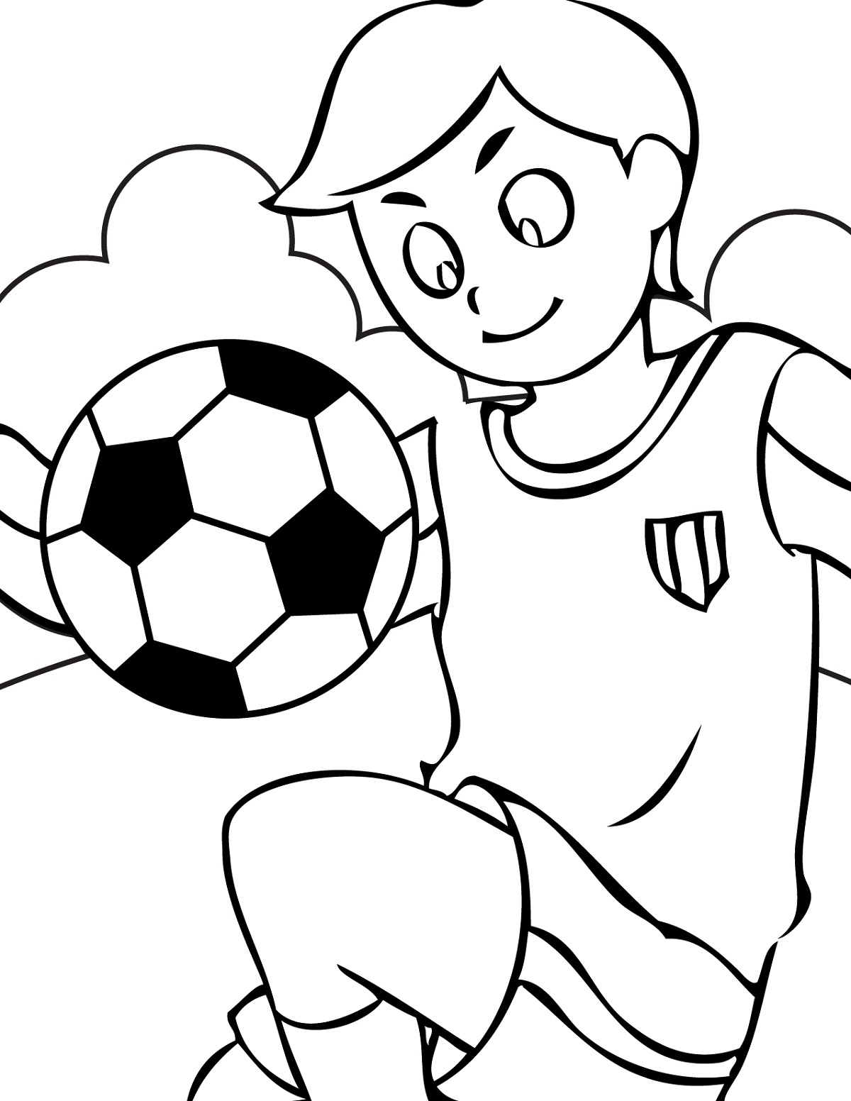 soccer worksheets for kids coloring
