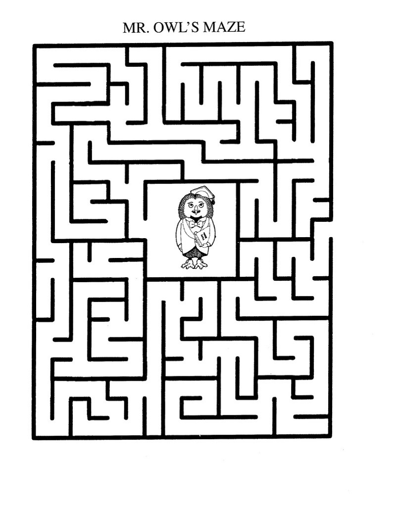 maze puzzles for kids page