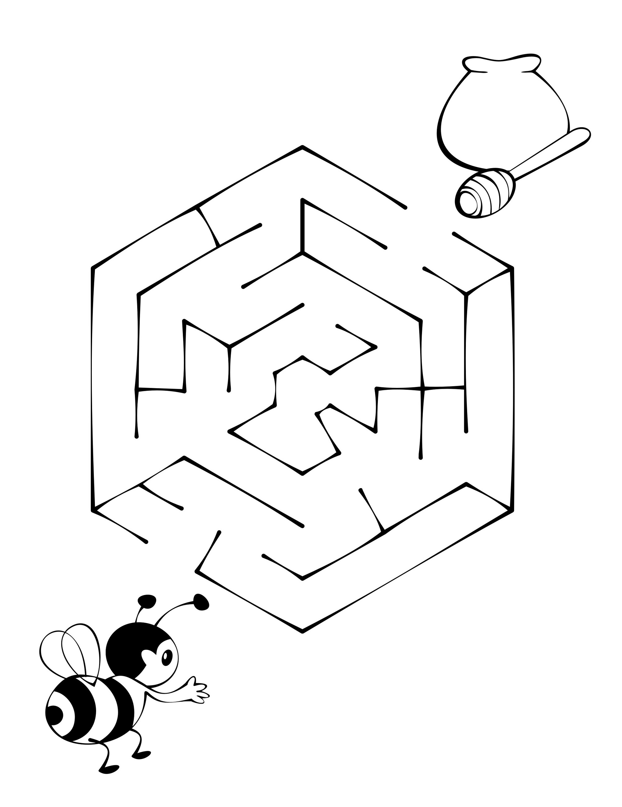 maze puzzles for kids printable