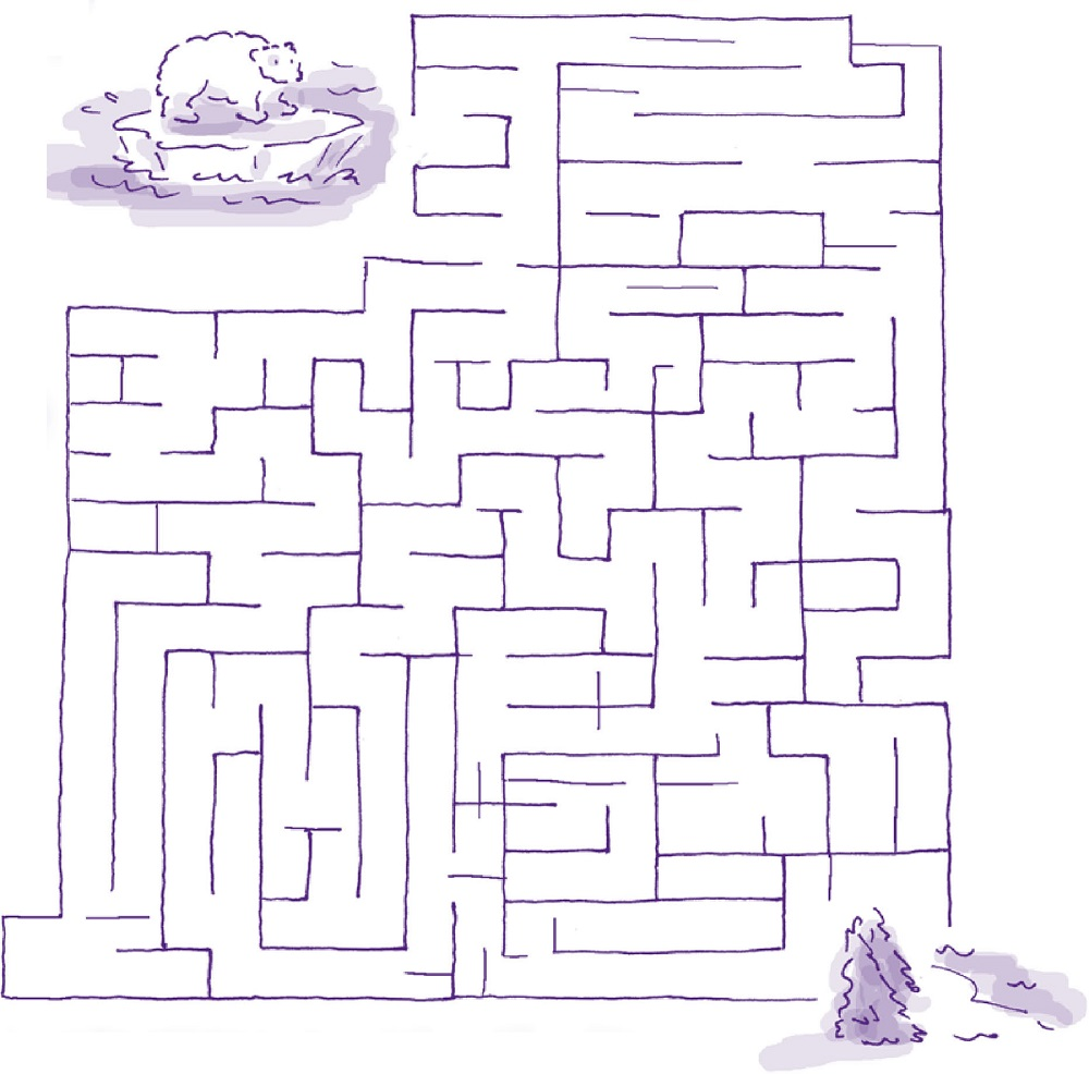 maze puzzles for kids sheet