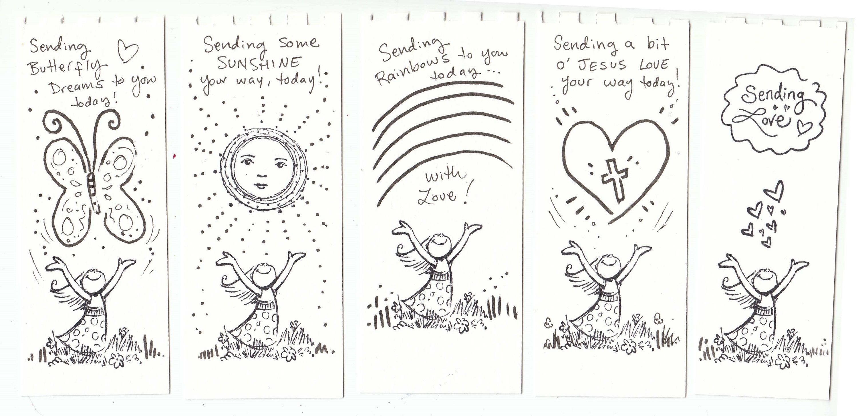 Printable Bookmarks to Color In page