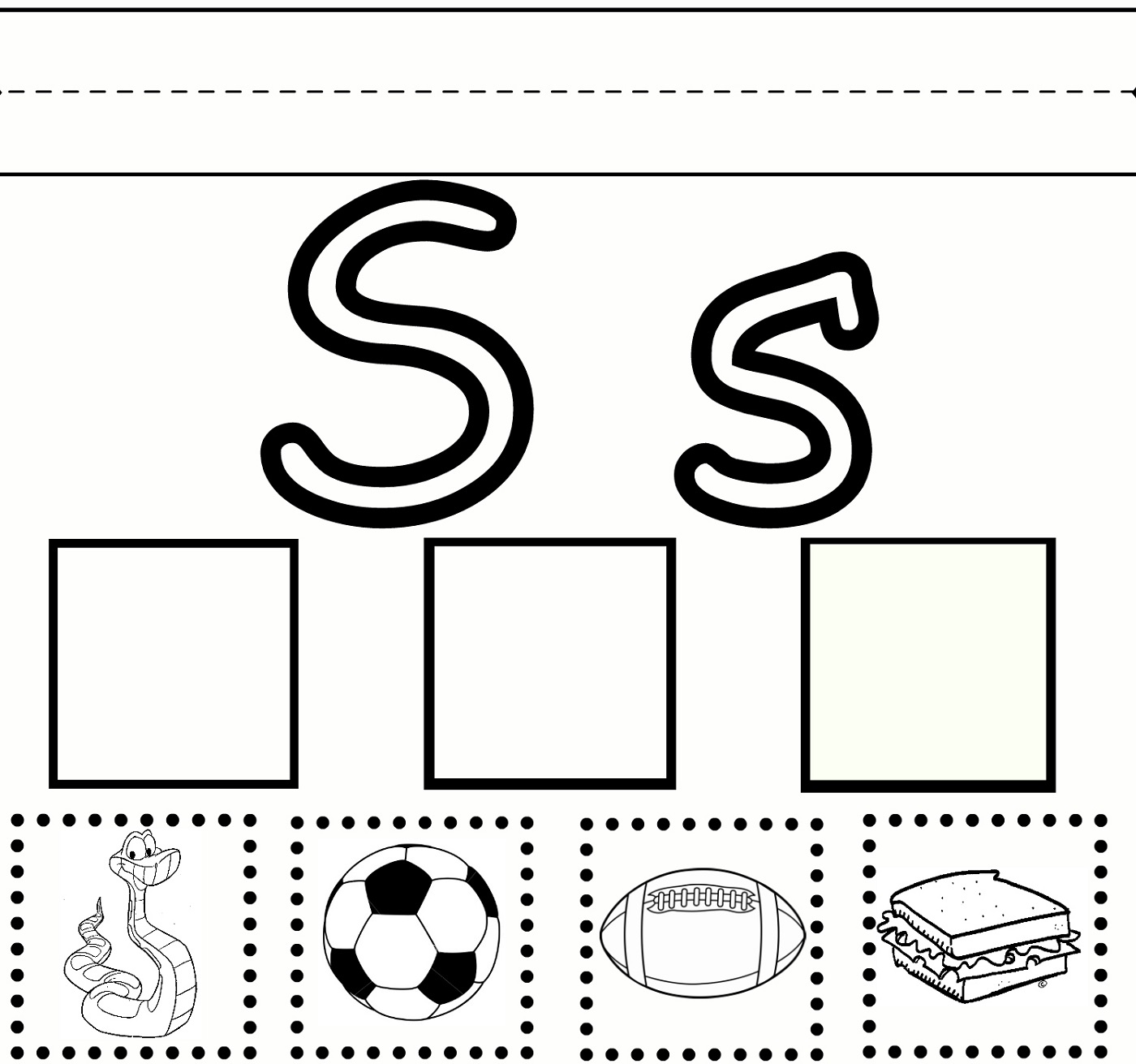 S worksheets activity