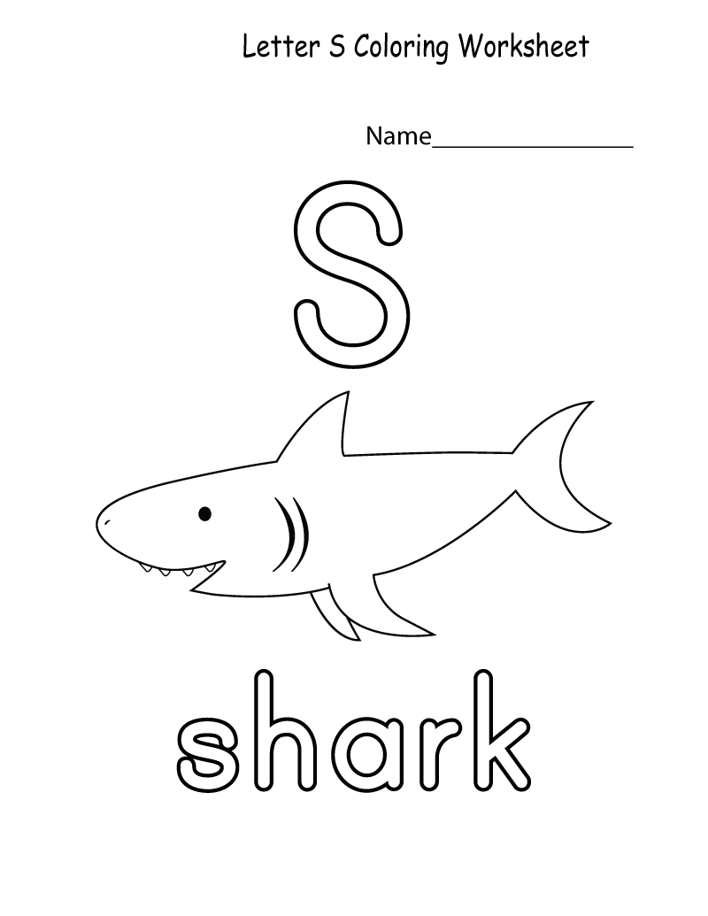 S worksheets coloring