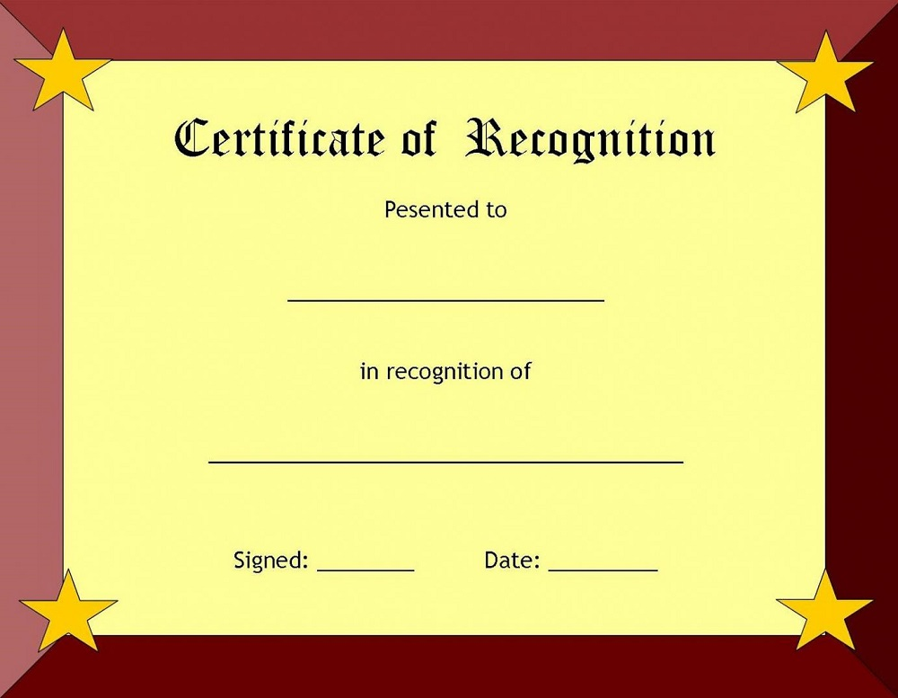 certificate templates page