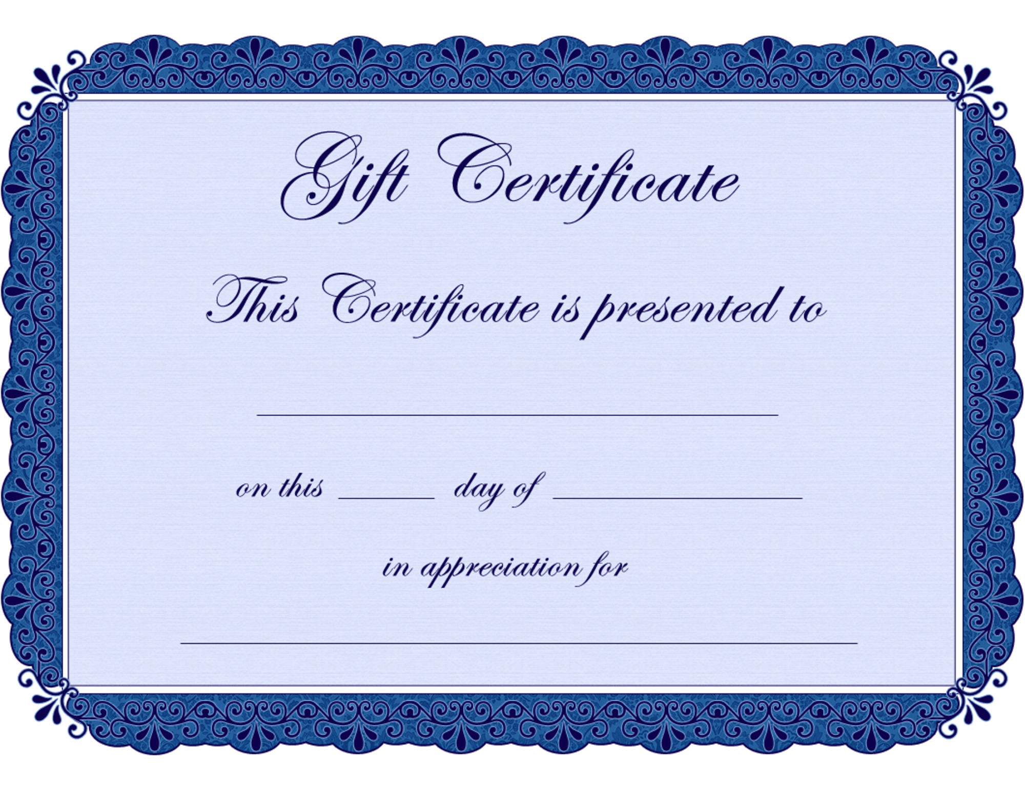 certificate templates sample